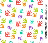 abstract vector color hand... | Shutterstock .eps vector #388861012
