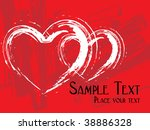 grungy heart with bred... | Shutterstock .eps vector #38886328