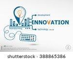innovation concept for business.... | Shutterstock .eps vector #388865386