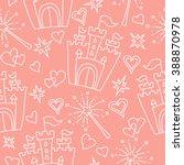 hand drawn seamless vector pink ...   Shutterstock .eps vector #388870978