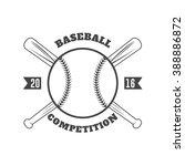 vintage baseball badges | Shutterstock .eps vector #388886872