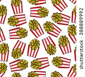 crispy french fries seamless... | Shutterstock .eps vector #388889992
