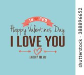 happy valentine day | Shutterstock .eps vector #388896652