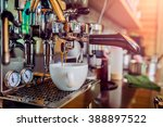 professional coffee machine... | Shutterstock . vector #388897522