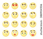 Emoticon Set. Collection Of...