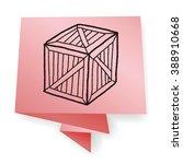 wood box doodle | Shutterstock .eps vector #388910668