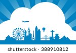 happy travel concept with... | Shutterstock .eps vector #388910812