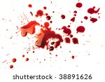 splattered blood stains on a... | Shutterstock . vector #38891626