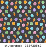 funny happy easter background... | Shutterstock .eps vector #388920562
