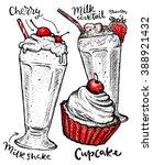 vector dessert of different... | Shutterstock .eps vector #388921432