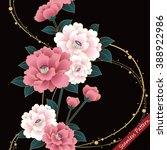 japanese traditional floral...   Shutterstock .eps vector #388922986