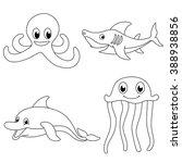underwater sea animals coloring ...