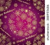Christmas Purple Seamless...