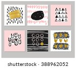 set of abstract  creative cards ...