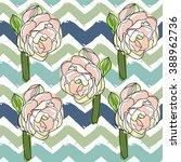 flower and geometric vector...   Shutterstock .eps vector #388962736