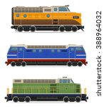 set icons railway locomotive... | Shutterstock . vector #388964032