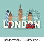 flat uk  london travel...   Shutterstock .eps vector #388971928