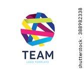 teamwork logo. community logo.... | Shutterstock .eps vector #388982338