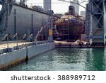 russian submarine in repair dock | Shutterstock . vector #388989712