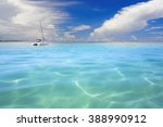 turquoise lagoons of the... | Shutterstock . vector #388990912