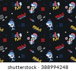 seamless pattern cartoon pirate ... | Shutterstock .eps vector #388994248