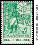 Small photo of BUDAPEST, HUNGARY - 27 february 2016: a stamp printed in the Belgium shows Postmaster, circa 1962