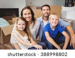portrait of smiling family with ... | Shutterstock . vector #388998802