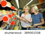 positive female pensioner and... | Shutterstock . vector #389001538