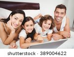 portrait of happy children with ... | Shutterstock . vector #389004622