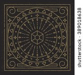 mandala. abstraction. linear...   Shutterstock .eps vector #389018638