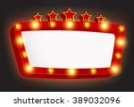retro light frame with star | Shutterstock .eps vector #389032096