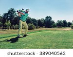 Golf. Powerful Teeing Off With...