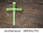 palm sunday concept  cross... | Shutterstock . vector #389041792