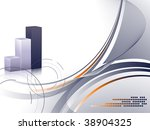 abstract bar graphs with copy... | Shutterstock .eps vector #38904325