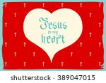 gothic bible lettering....   Shutterstock .eps vector #389047015