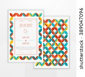vector save the date card...   Shutterstock .eps vector #389047096
