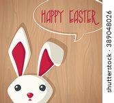 vector happy easter greeting... | Shutterstock .eps vector #389048026