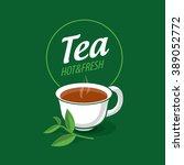 vector logo tea | Shutterstock .eps vector #389052772