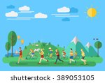 flat design  illustration of... | Shutterstock .eps vector #389053105