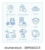 vector thin line icons set for...