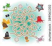 sea animals  boats pirates. sea ... | Shutterstock . vector #389061202