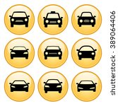 car icons gold button icon set | Shutterstock .eps vector #389064406