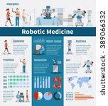 robotic  medicine infographics... | Shutterstock .eps vector #389066332