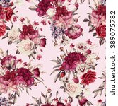 seamless floral pattern with...   Shutterstock . vector #389075782