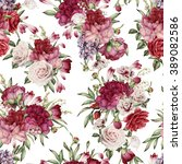 seamless floral pattern with... | Shutterstock . vector #389082586