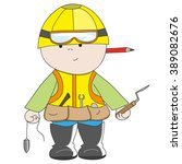 hand drawn figure builder with... | Shutterstock .eps vector #389082676