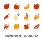 fruits and vegetables icons.... | Shutterstock .eps vector #38908312