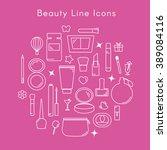 set of decorative cosmetics... | Shutterstock .eps vector #389084116