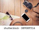 preparation for travel trip... | Shutterstock . vector #389089516