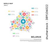 map of belarus infographic... | Shutterstock .eps vector #389106022